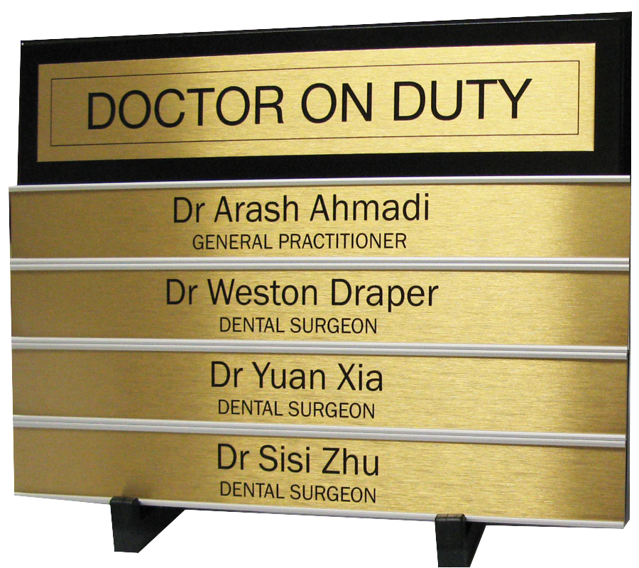 Medical Centre Office Signs. Directory Board