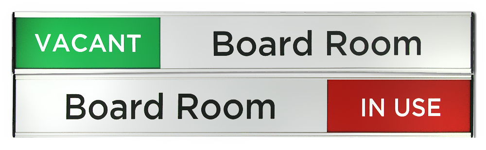 Vacant/In Use Board Room sign