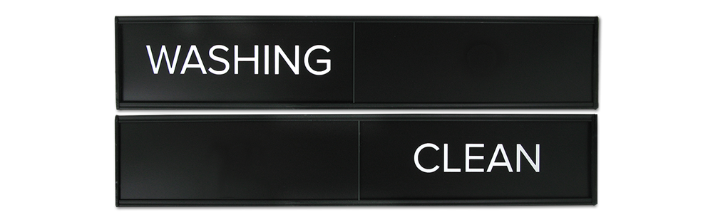 WASHING CLEAN - SLIDING SIGNS SMALL SIZE