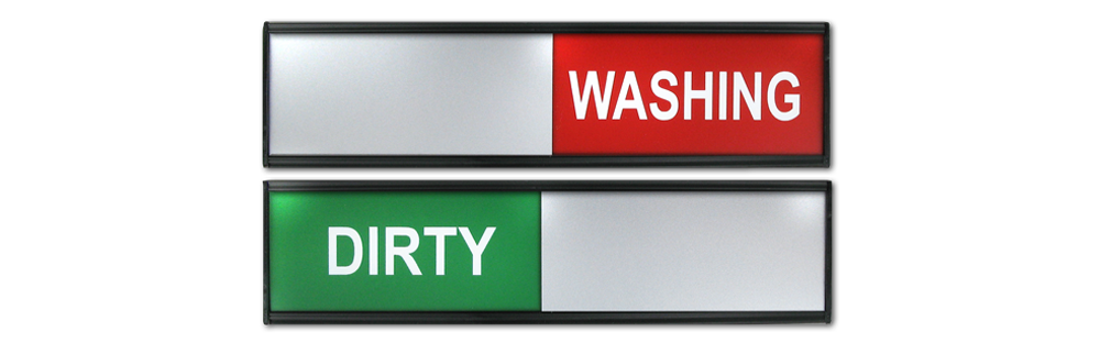 DIRTY/WASHING SLIDING SIGNS SMALL SIZE