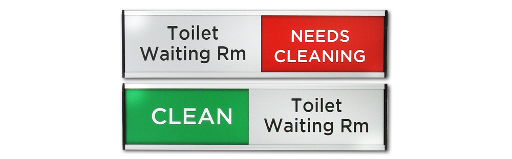 CLEAN/NEEDS CLEANING - SLIDING SIGNS SMALL SIZE
