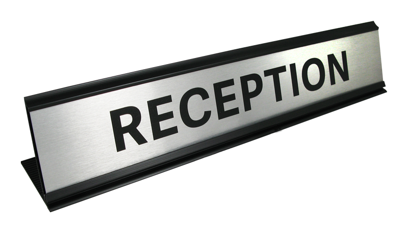 Desk Signs - Reception nameplate