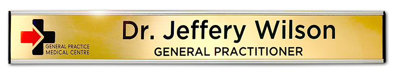 Custom door signs. Office door signs. Changeable door nameplates