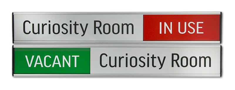 Vacant/In Use office door sign