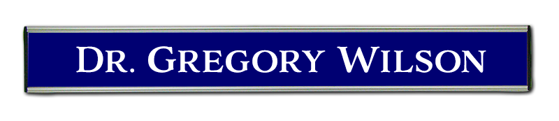 Nameplates made in Australia - Changeable nameplates