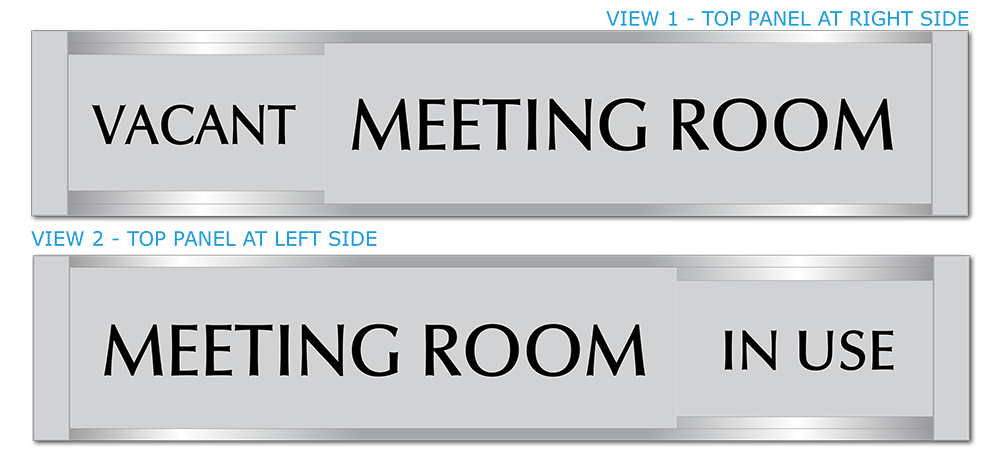 Conference & Meeting Room Door Signs. Vacant/In Use Office Door Sign