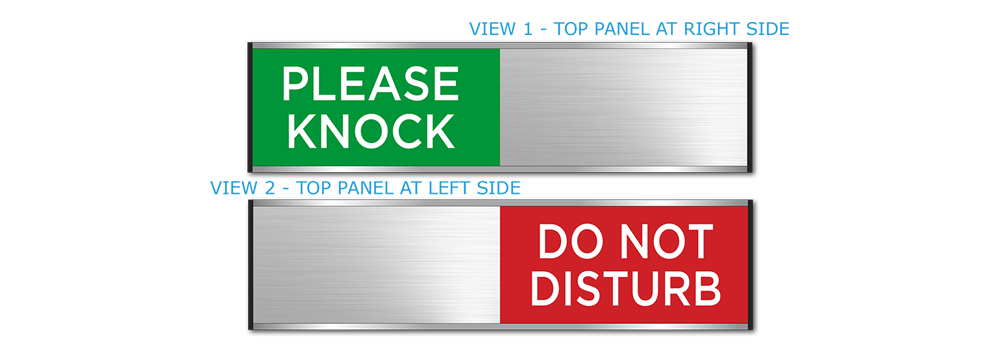 PLEASE KNOCK/DO NOT DISTURB - SLIDING SIGNS SMALL SIZE