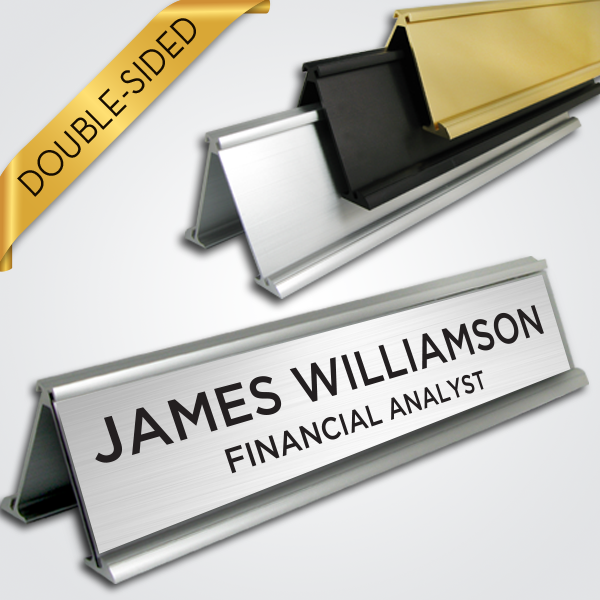 Desk Signs - Double Sided